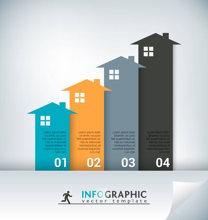 column chart: Real Estate Abstract Concept Vector Infographic Chart