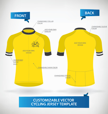 Customizable Vector Cycling Jersey Template