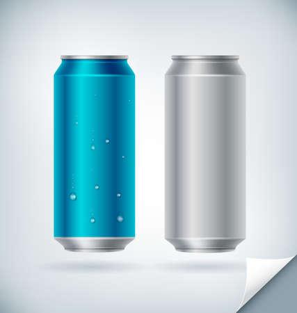 soda can: Blank Aluminum Soda Can Vector Mock up