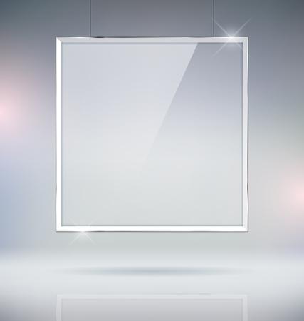 mock up: Glass Picture Frame Mock Up Vector Illustration Illustration