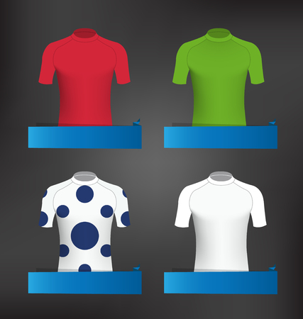 Cycling Jerseys Vector Set for Grand Tour