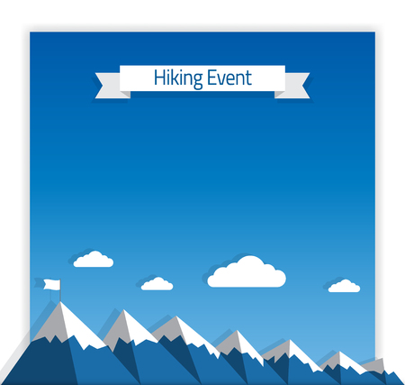 mountaineering: Poster Template for Hiking or Mountaineering Event