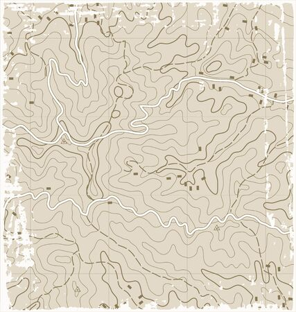 Old Grunge Abstract Topographic Map