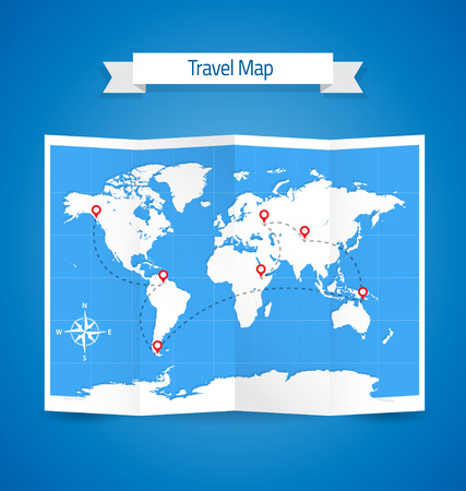 World Travel Map Paper Template