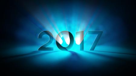 2017 Año Nuevo Extracto ligero Saludos Foto de archivo - 68478356