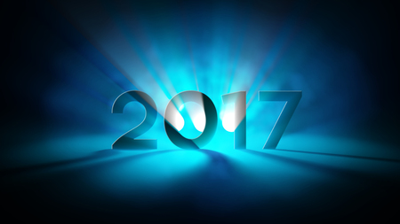 2017 New Year Light Abstract Greetings Reklamní fotografie