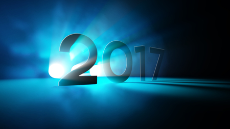 2017 새 해 빛 추상 인사말