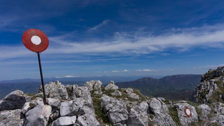Landscape Mountain Peak with Mark Foto de archivo