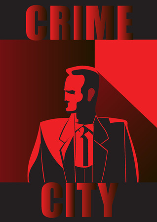 internally: Crime city man Illustration