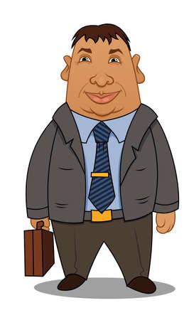 corpulent: Cartoon corpulent businessman