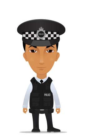 gorra polic�a: El oficial de polic�a