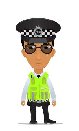 Traffic police officer Vector