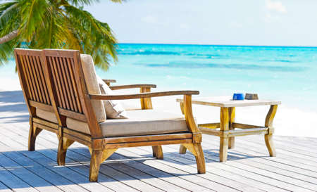 Relax in tropical paradise. Stock Photo