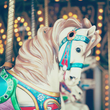 equine: Vintage carousel horse