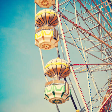 vibrant colors fun: Summer Ferris wheel