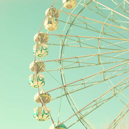Vintage pastel ferris wheel photo