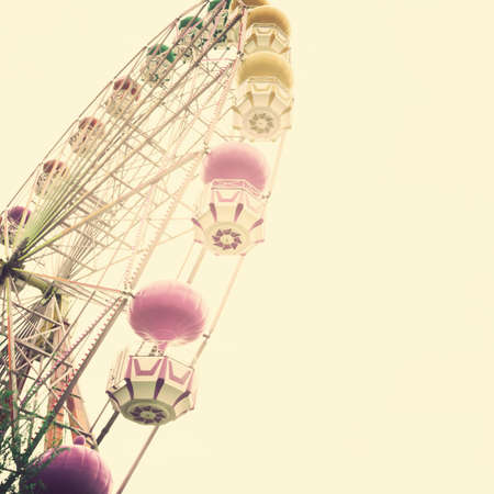 ferris: Pastel vintage ferris wheel