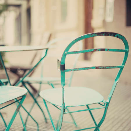 Outdoors cafe chairs photo