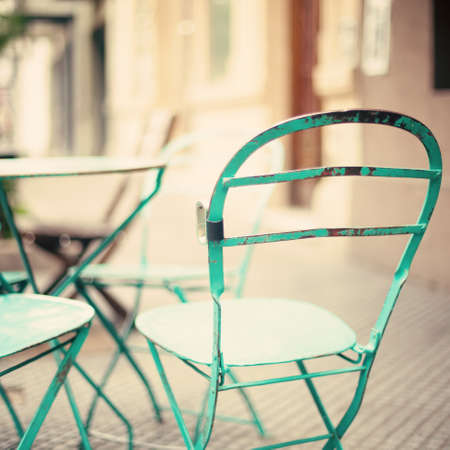 cafe shop: Outdoors cafe chairs