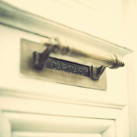 mail slot: Vintage mail slot Stock Photo