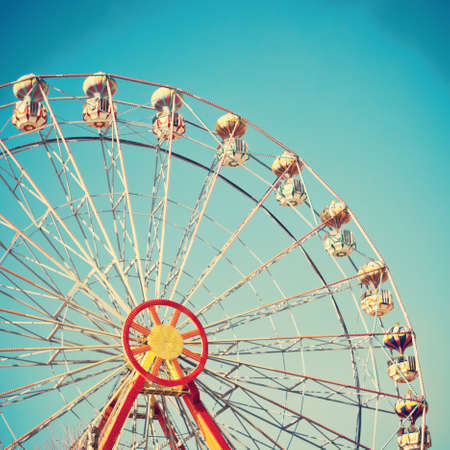 Vintage ferris wheel Stock Photo