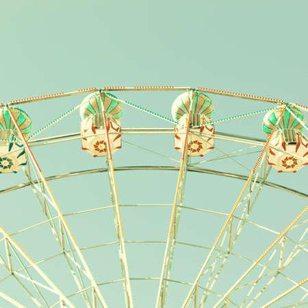 Vintage summer ferris wheel photo