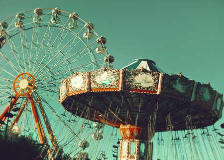 Vintage amusement park