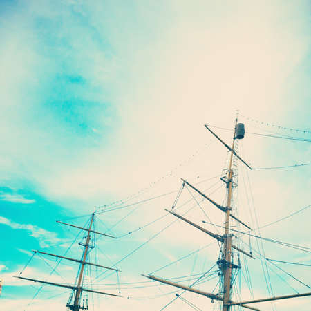 tend: Vessel masts Stock Photo