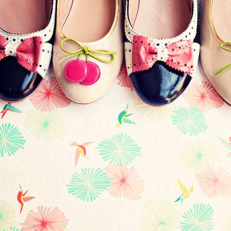 fashion: ヒールの靴 写真素材