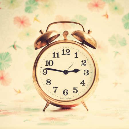 clocks: Vintage alarm clock Stock Photo
