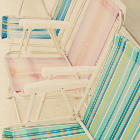 Summer beach chairs photo