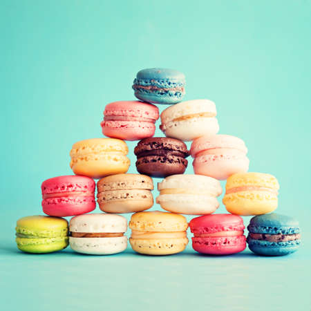 Pyramid of macaroons