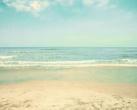 ビンテージ夏のビーチ 写真素材