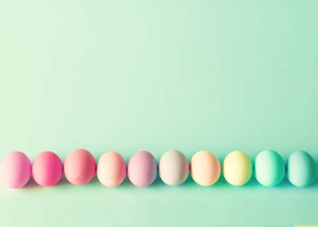 easter morning: Colorful easter eggs