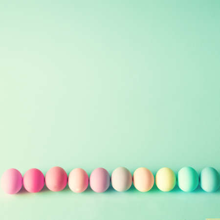 pastel color: Colorful easter eggs