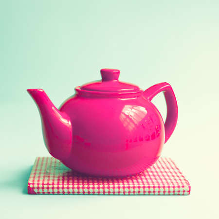 Vintage red teapot