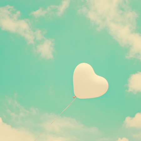 White heart-shaped balloon photo