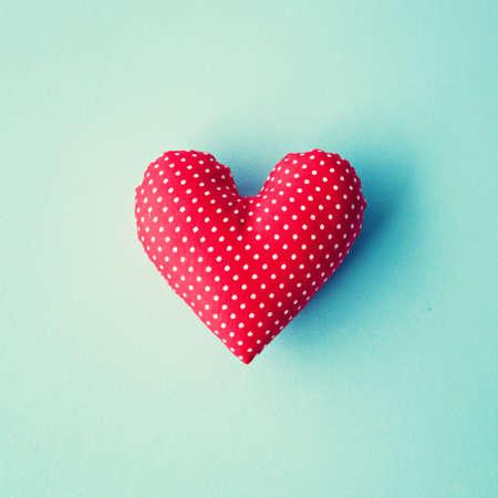 wedding heart: Red cotton stuffed heart