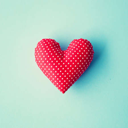 heart shape: Red cotton stuffed heart