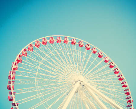 Vintage ferris wheel 스톡 콘텐츠