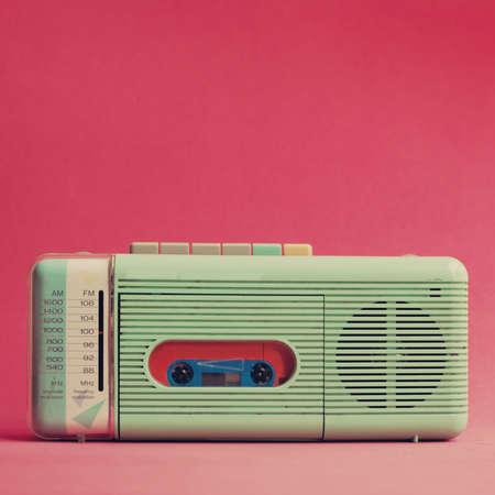 portables: Vintage turquoise radio
