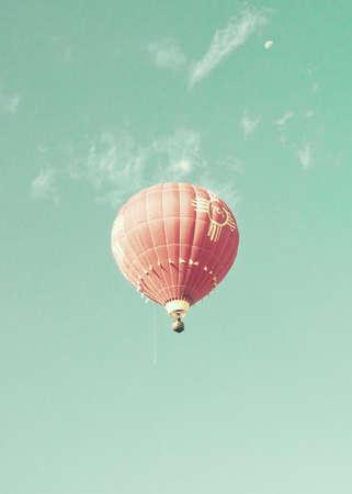 air transport: Vintage Hot Air Balloons in flight