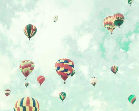 air balloon: Vintage Hot Air Balloons in flight