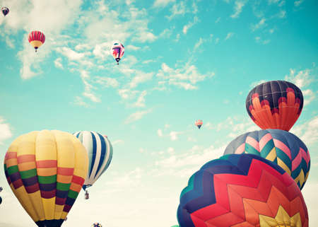 balloons: Vintage Hot Air Balloons in flight