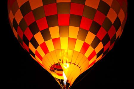 alight: Hot air balloon alight Stock Photo