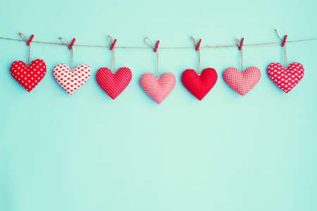 Wiszące pluszowe serca
