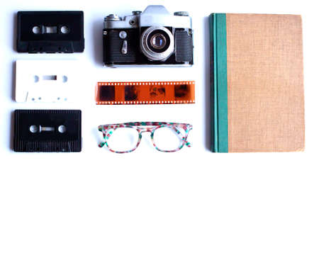 Vintage study items in a flat lay composition Banco de Imagens - 83416539