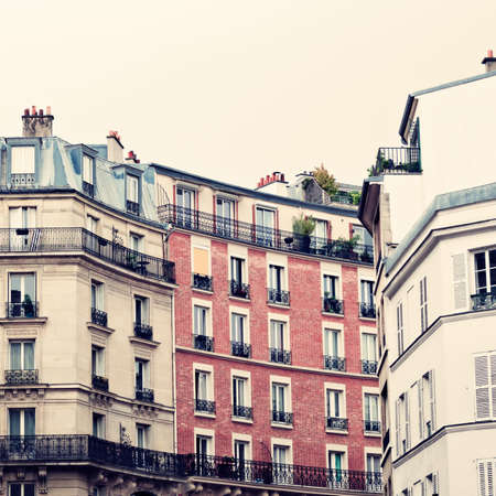 Vintage buildings in Paris Banco de Imagens - 88449168