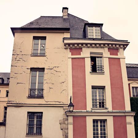 Vintage buildings in Paris Banco de Imagens