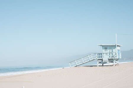 Life Guard tower in a beach in California
